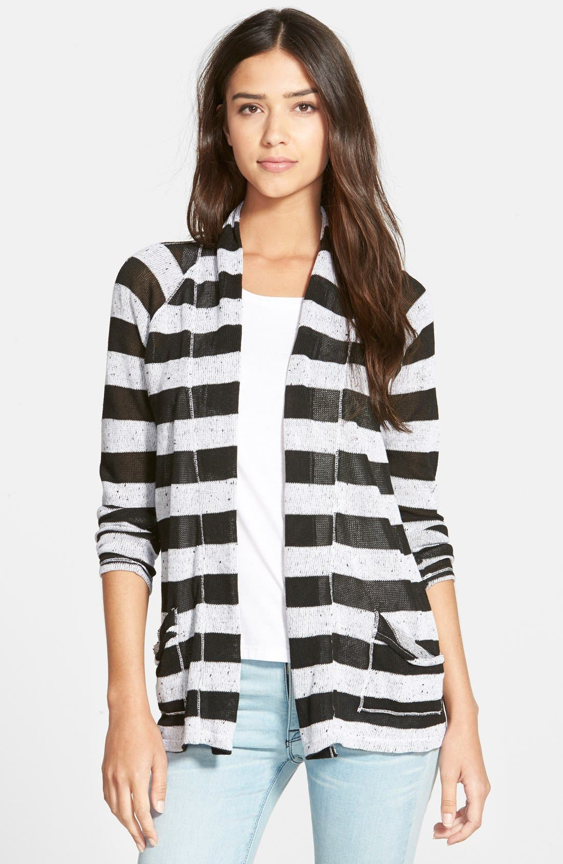 Alternate Image 1 Selected - Stateside Stripe Cardigan
