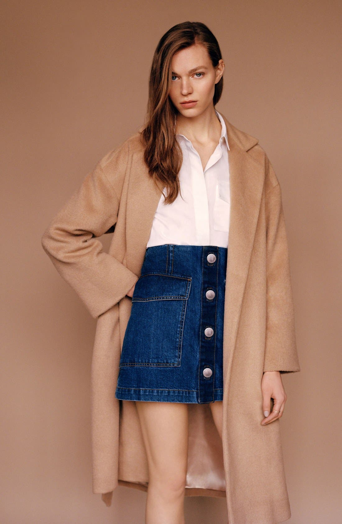 Alternate Image 6  - Topshop Long Belted Coat