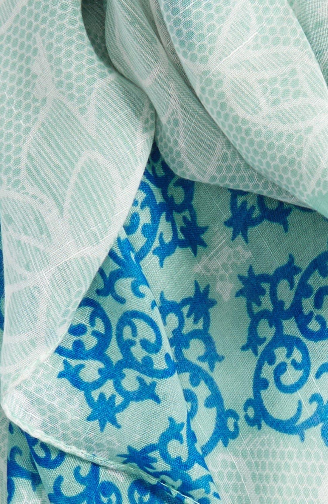 Alternate Image 3  - Evelyn K 'Lacy Floral Number' Print Scarf