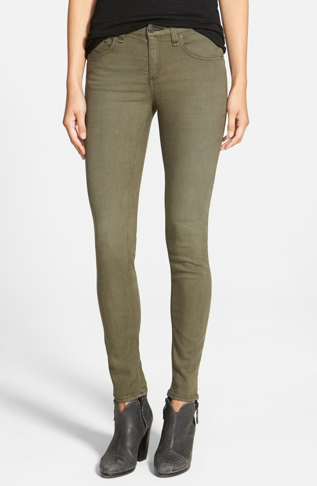 Main Image - rag & bone/JEAN 'The Skinny' Jeans (Distressed Fatigue) (Nordstrom Exclusive)