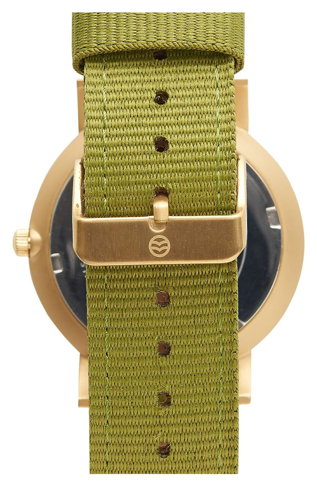 Alternate Image 2  - Shore Projects 'Project 1' Leather & Nylon Strap Watch, 39mm