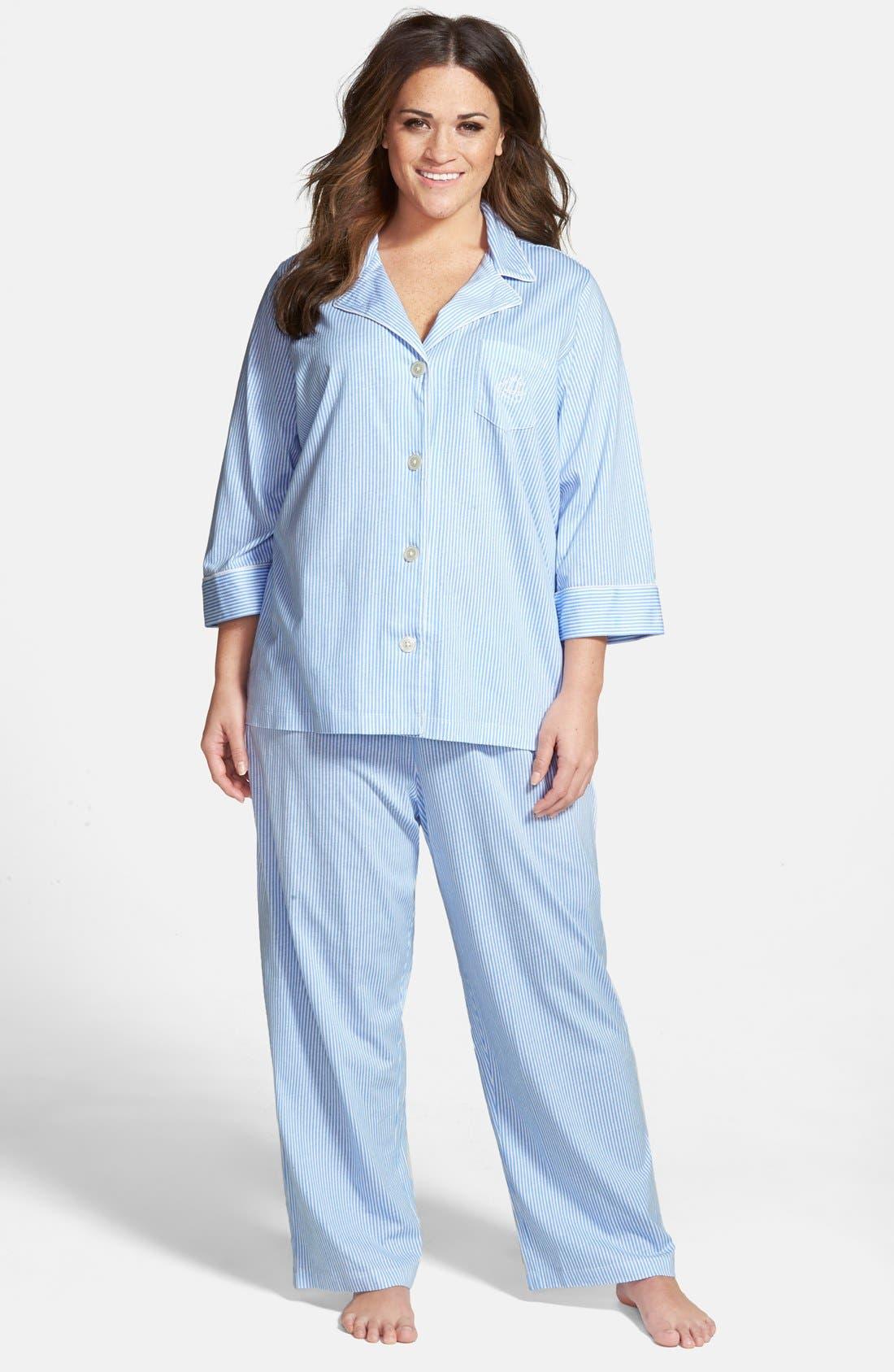 Lauren Ralph Lauren Knit Crop Pajamas (Plus Size) (Online Only)