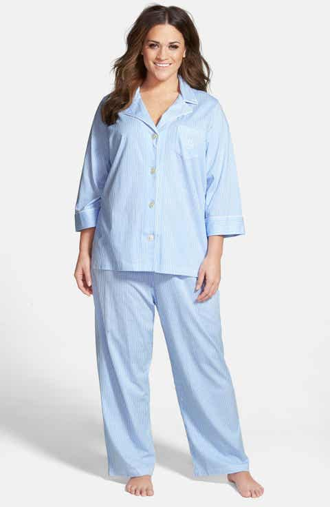 Lauren Ralph Lauren Knit Crop Pajamas (Plus Size) (Online Only)