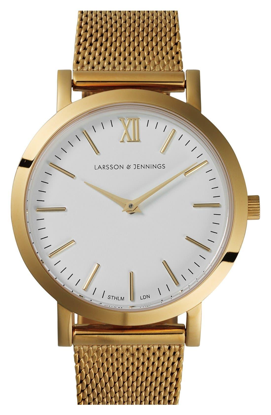 LARSSON & JENNINGS Lugano Mesh Strap Watch, 33mm