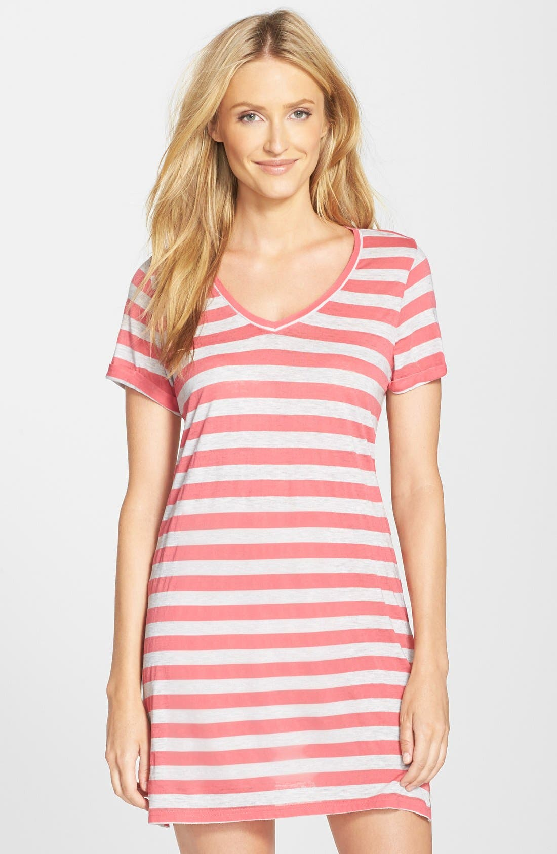 Alternate Image 1 Selected - Nordstrom Print Lightweight Jersey Nightshirt