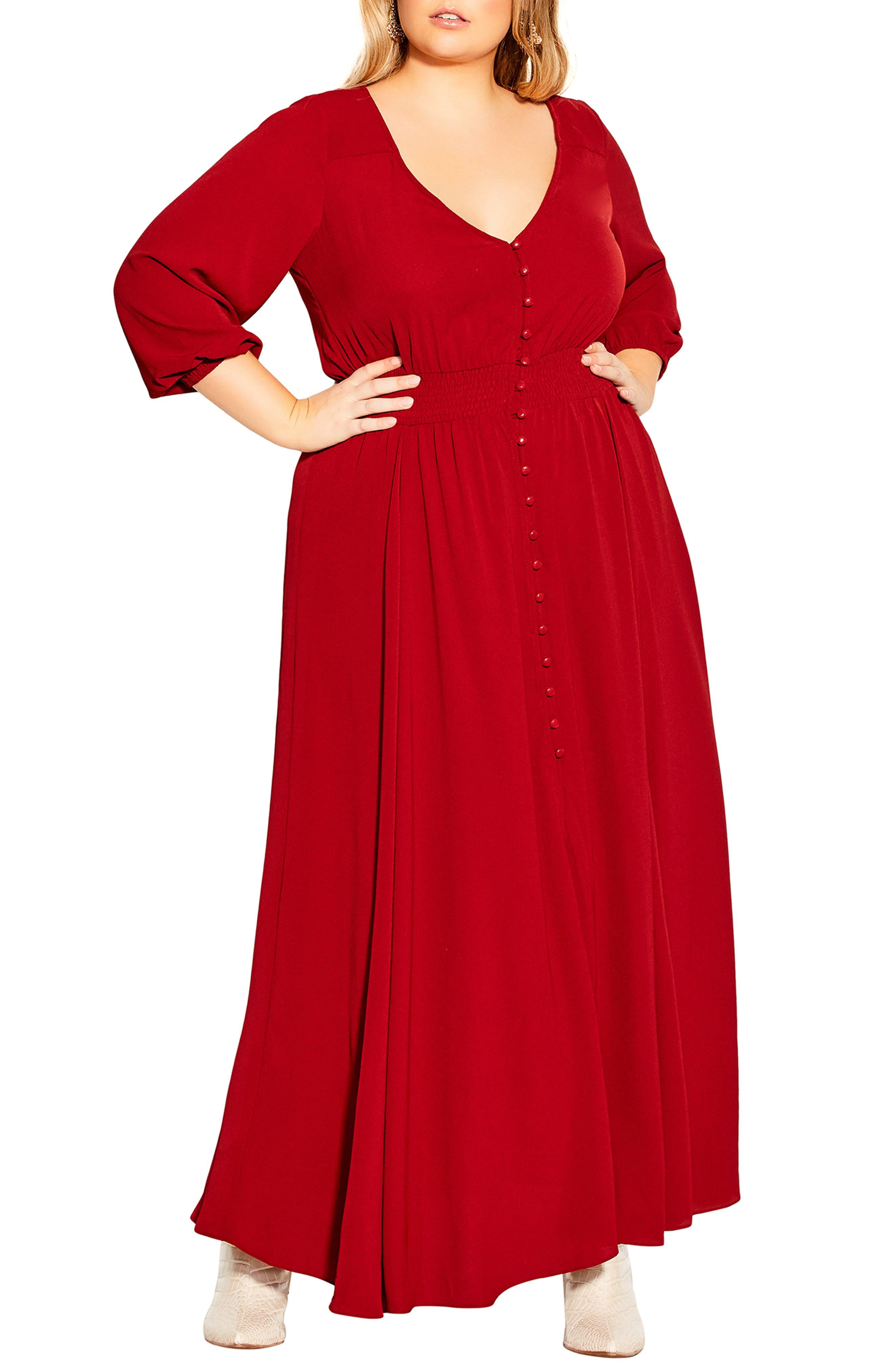90s Blood Orange Layered Greek Waist Band Maxi Dress  Stretchy  Citi Dress  Size 8