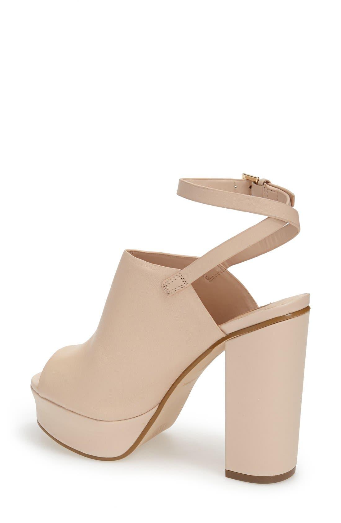 Alternate Image 2  - Topshop 'Sagittarius' Leather Ankle Strap Open Toe Platform Sandal (Women)