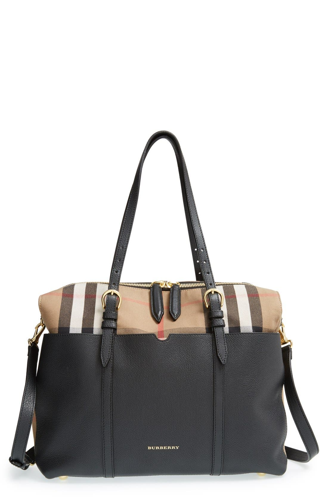 Alternate Image 1 Selected - Burberry 'Mason - House Check' Diaper Bag