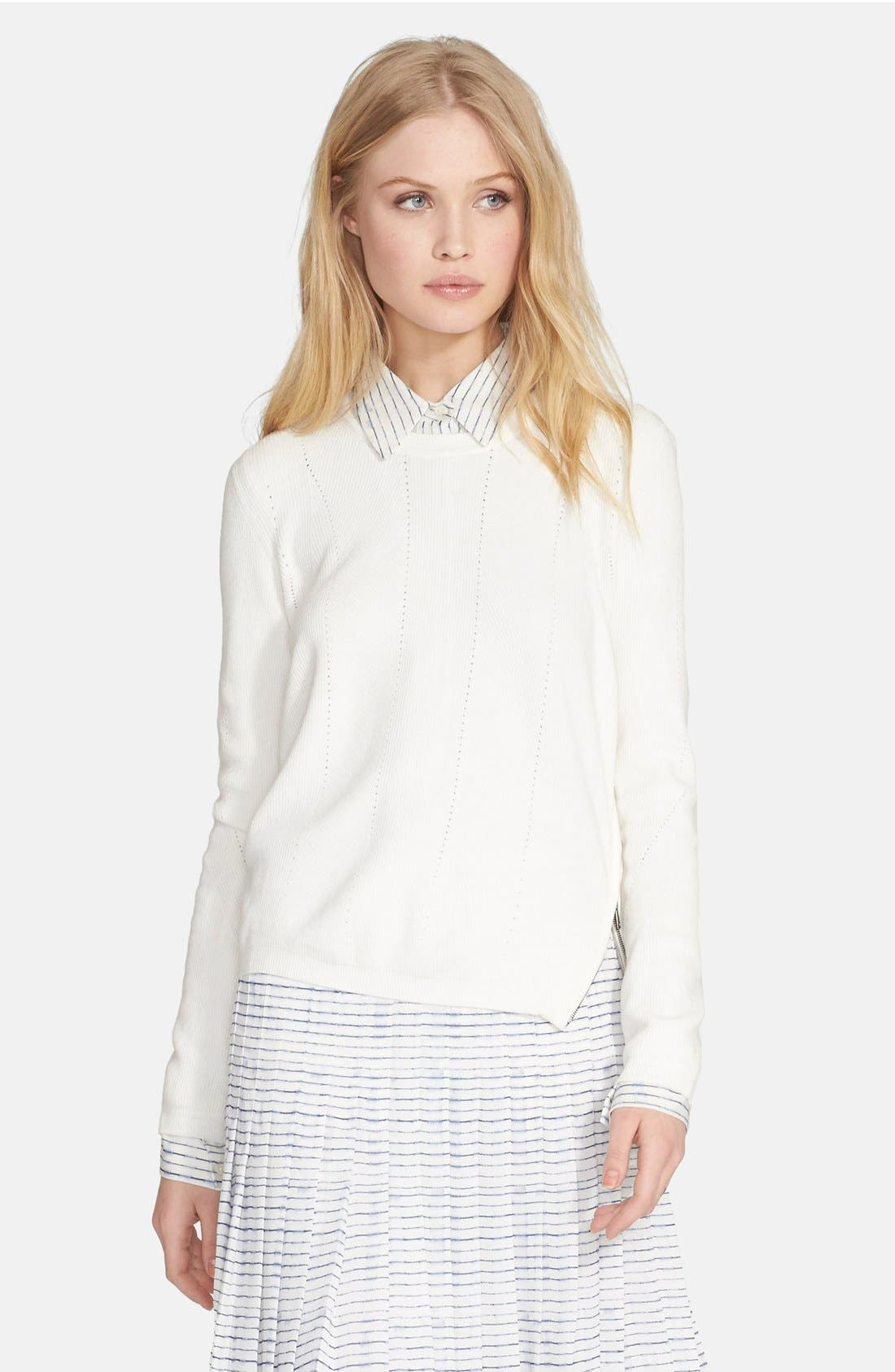 Alternate Image 1 Selected - Vince Side Zip Sweater