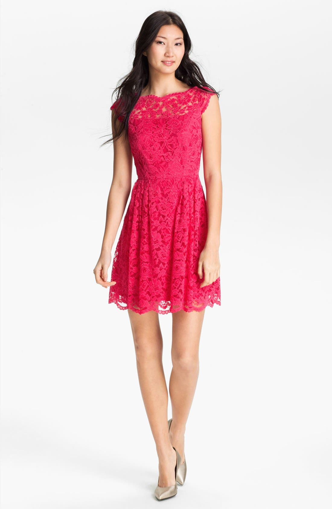 Alternate Image 3  - Cynthia Steffe Lace Fit & Flare Dress