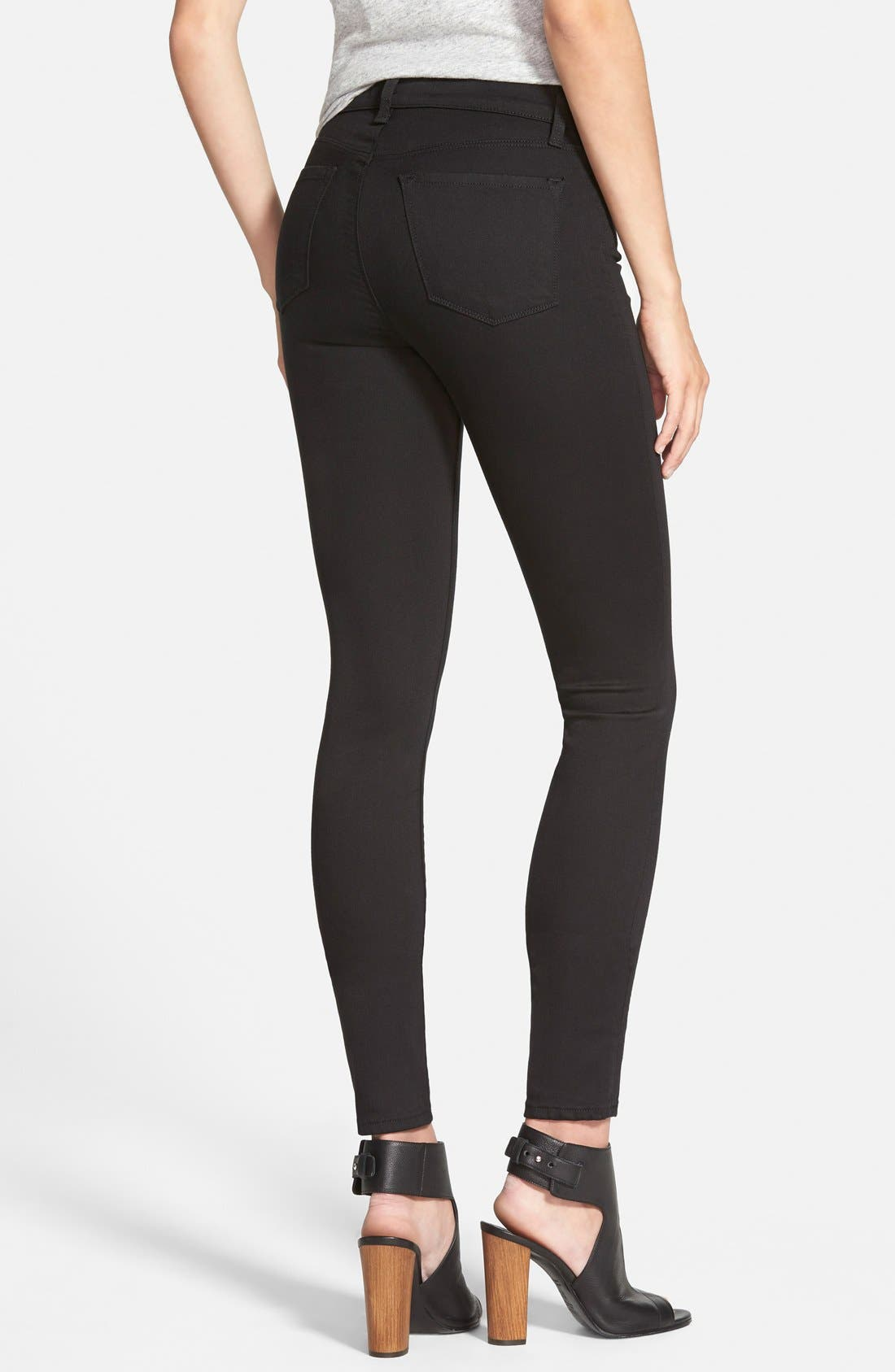 Alternate Image 2  - J Brand Maria High Waist Skinny Jeans (Seriously Black)