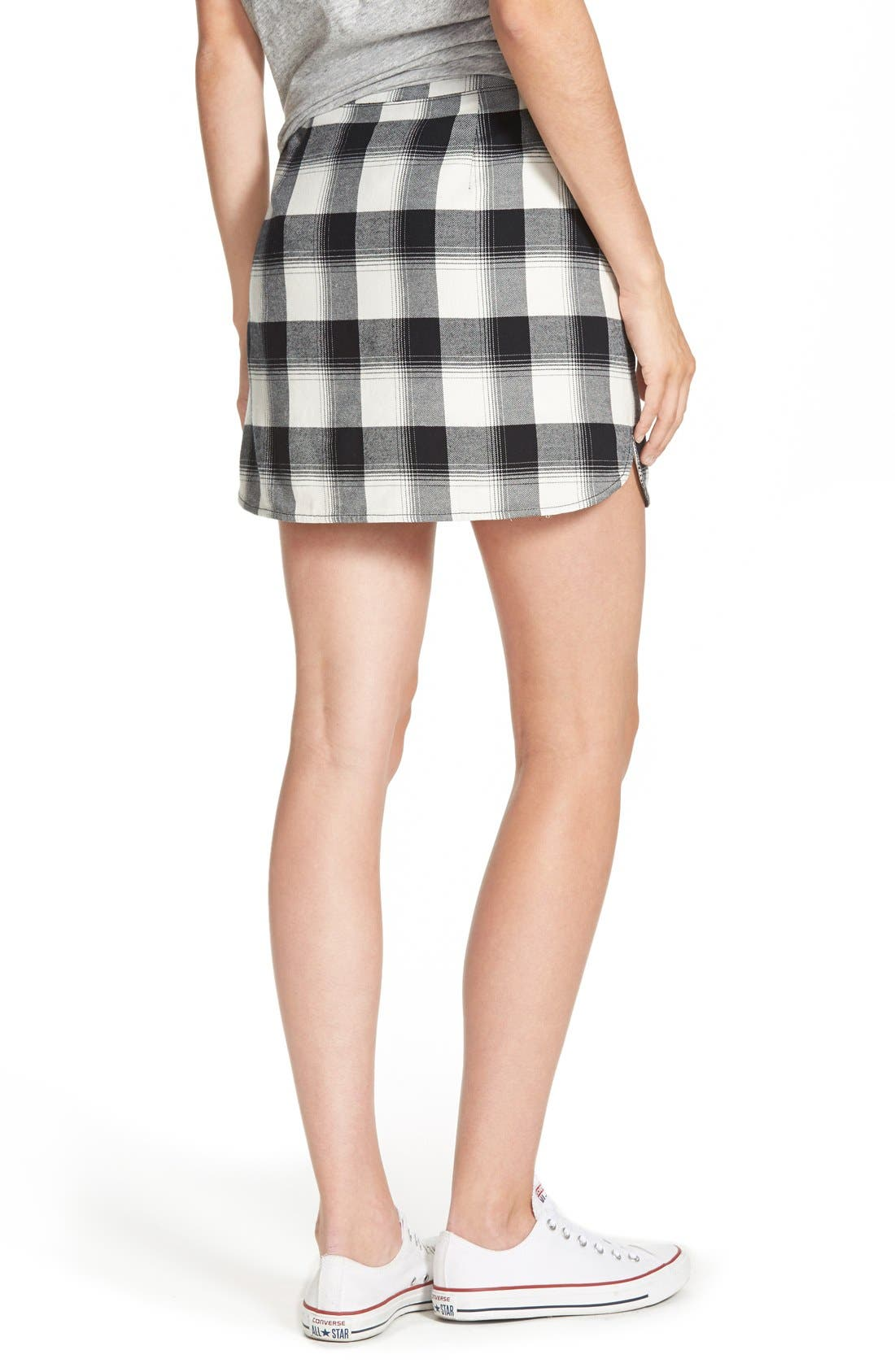 Alternate Image 3  - Treasure&Bond Plaid Miniskirt