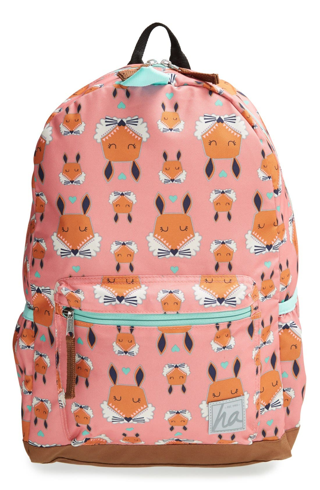Water Resistant Backpack,                             Main thumbnail 1, color,                             Pink Multi