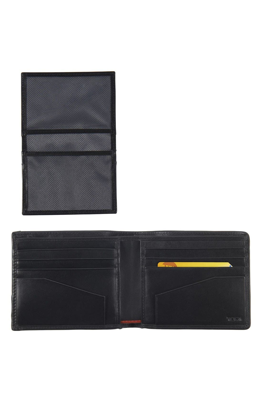 Alpha Global - ID Lock<sup>™</sup> Wallet with Removable Passcase,                             Alternate thumbnail 2, color,                             Black