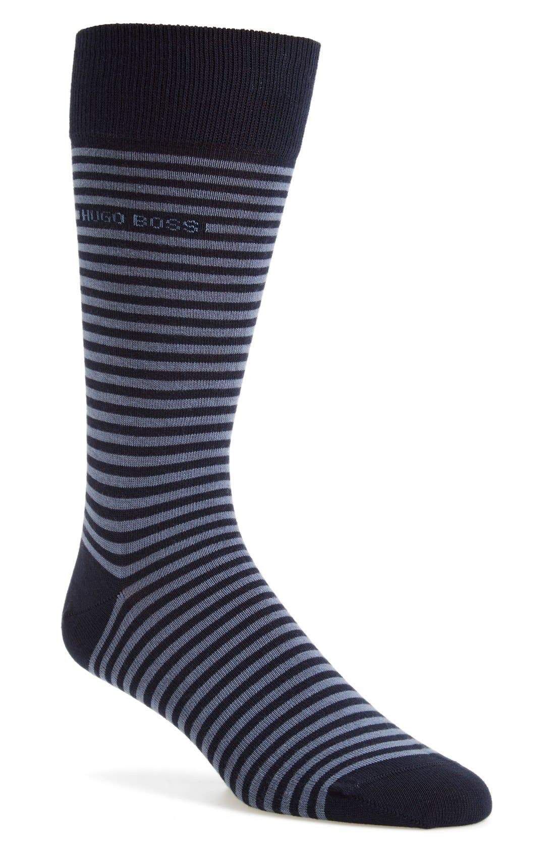 Alternate Image 1 Selected - BOSS 'Brian' Stripe Socks