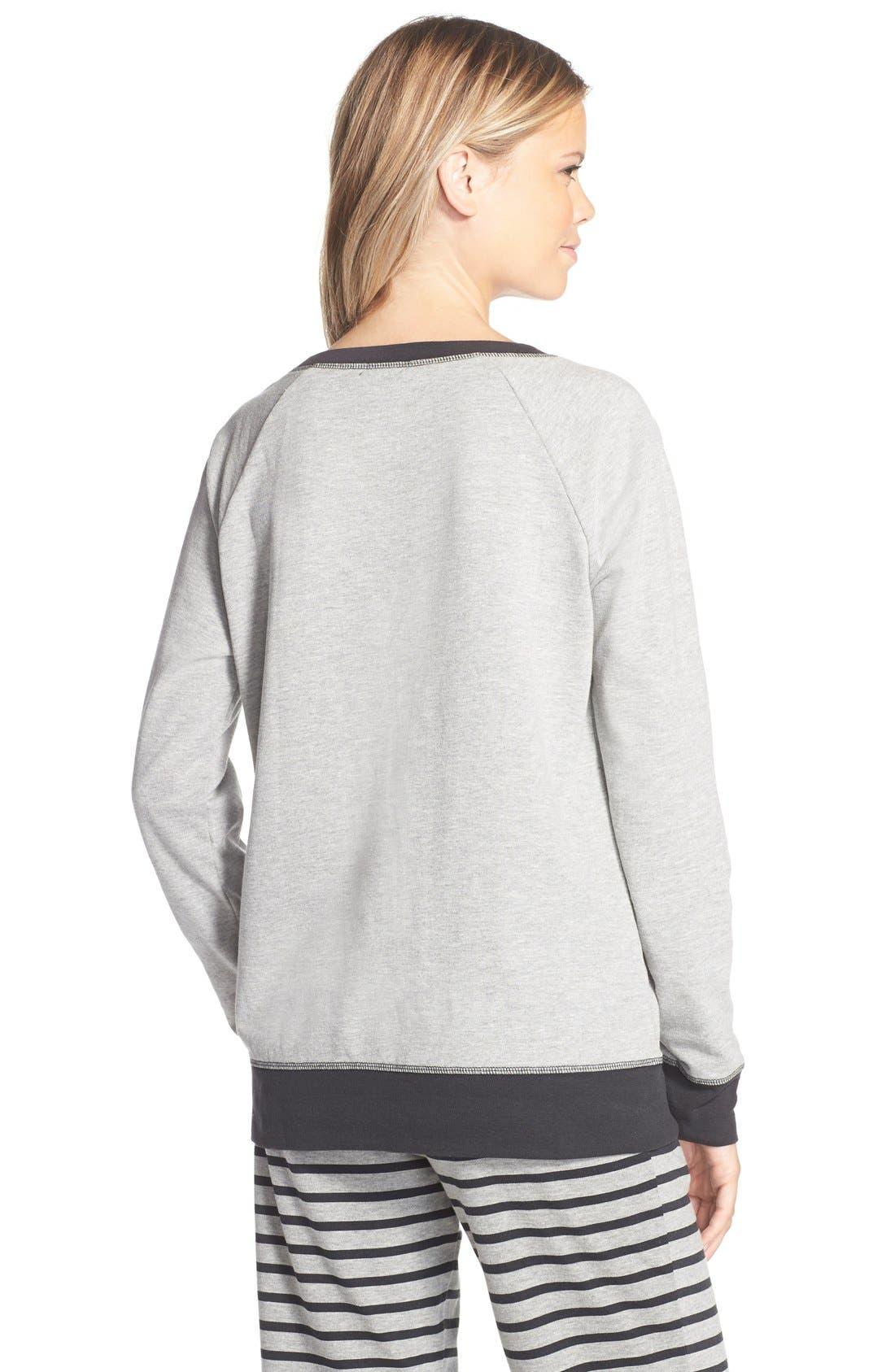 Alternate Image 2  - COZY ZOE Cat Face Pullover Sweatshirt