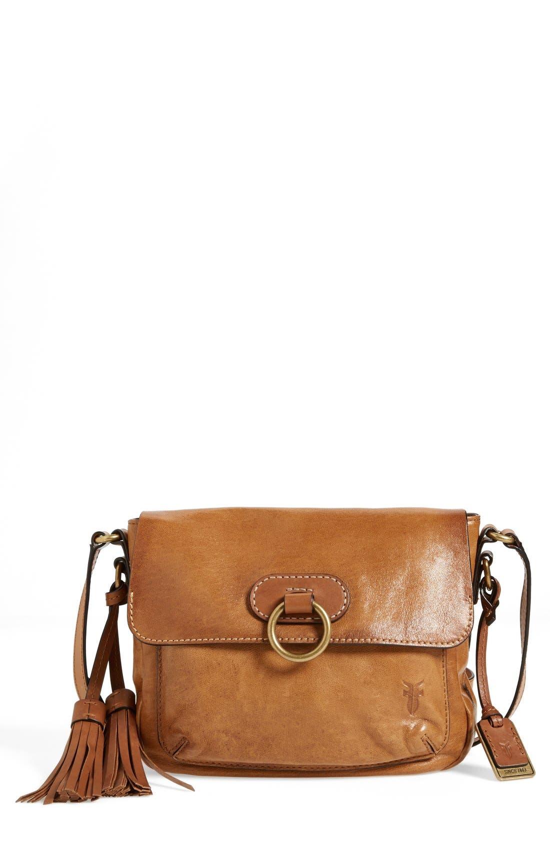 'Esther Ring' Crossbody Bag,                             Main thumbnail 1, color,                             Tan
