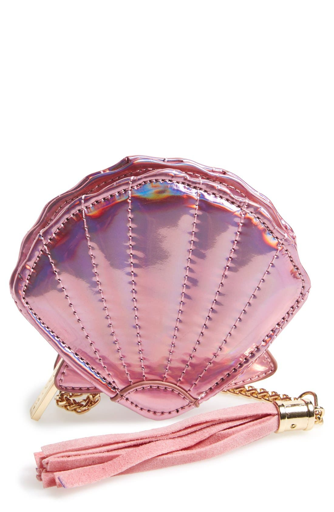 'Shell' Coin Purse,                         Main,                         color, Pink