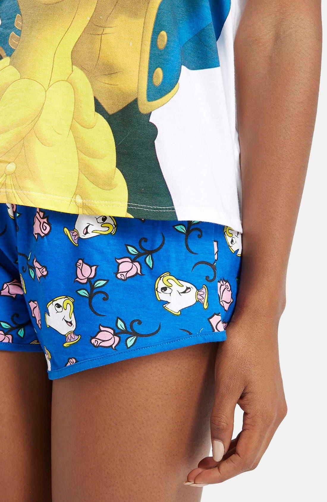 Alternate Image 3  - Topshop Beauty & The Beast Pajama Set