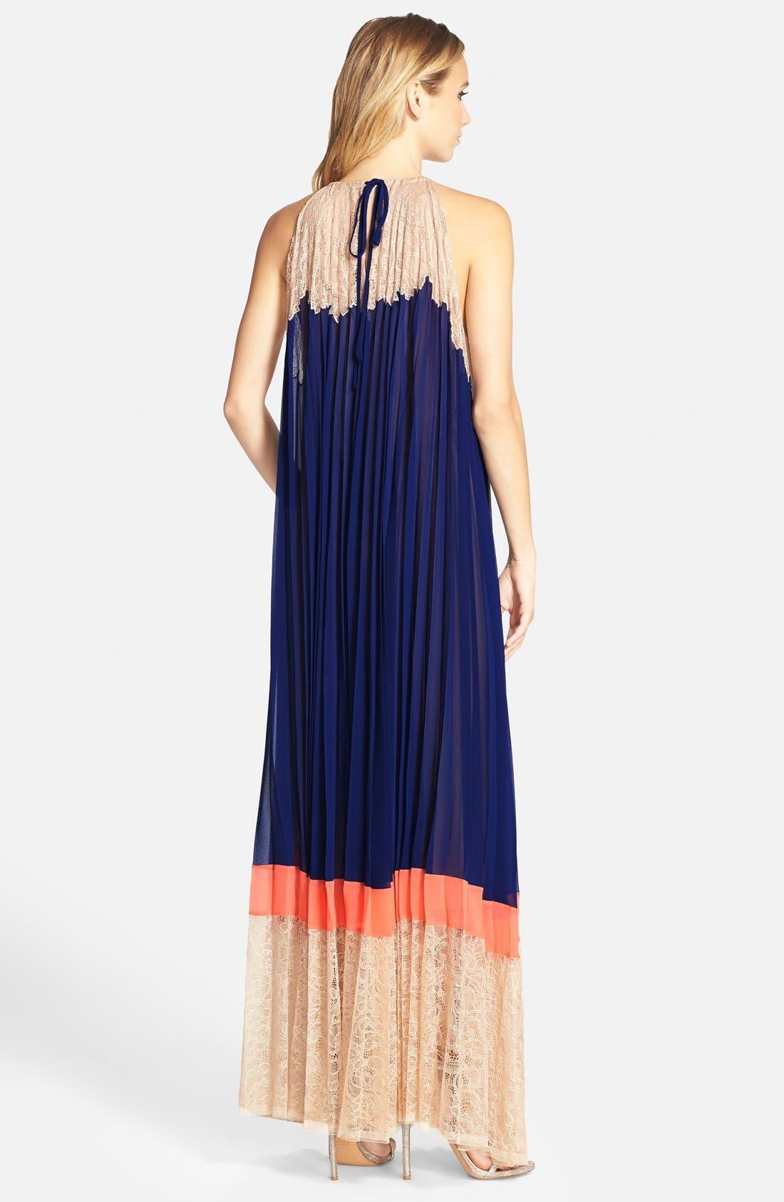 Alternate Image 2  - BCBGMAXAZRIA 'Brieena' Colorblock Sleeveless Maxi Dress