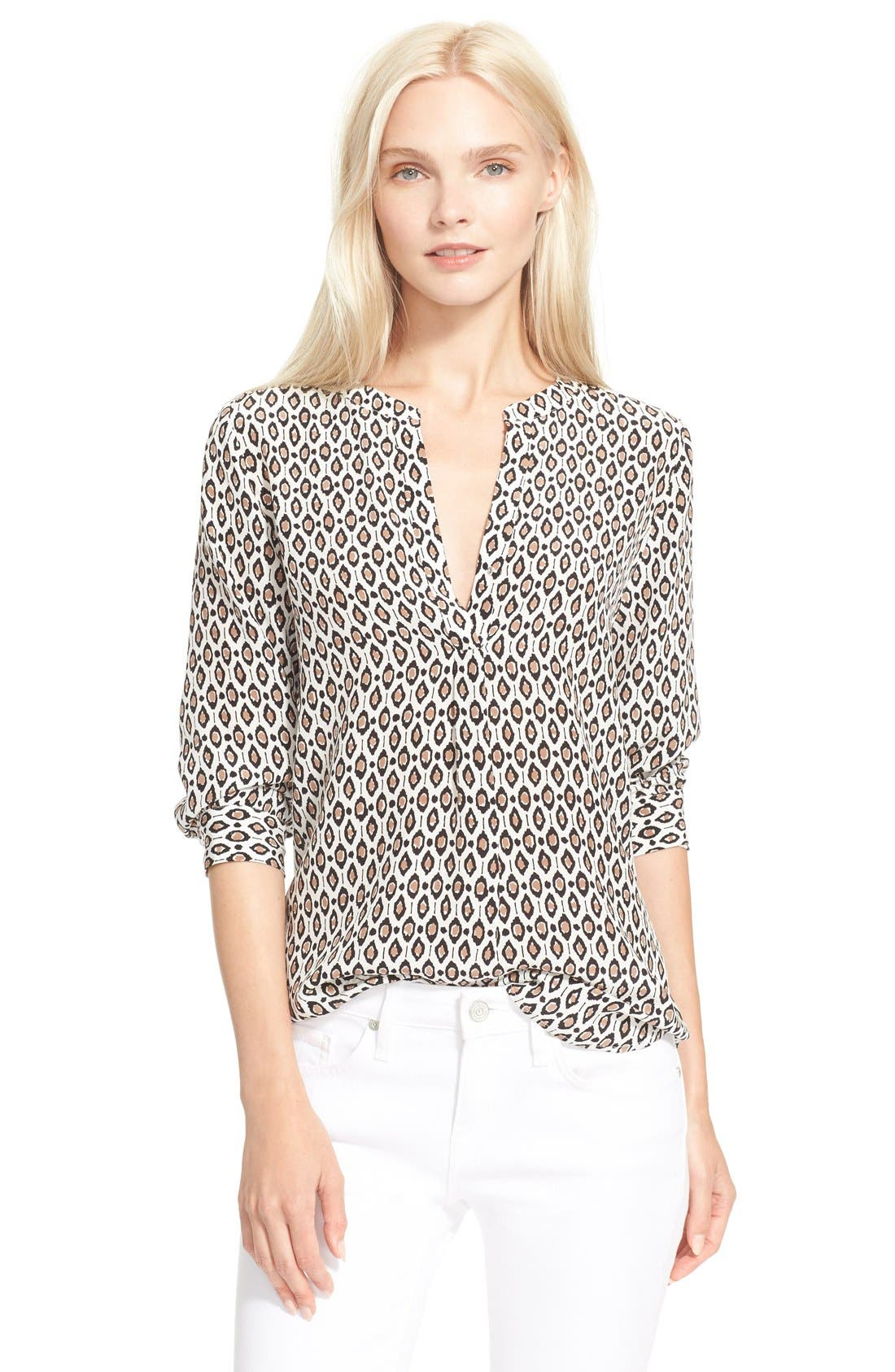 Alternate Image 1 Selected - Joie 'Peterson B' Print Silk Blouse