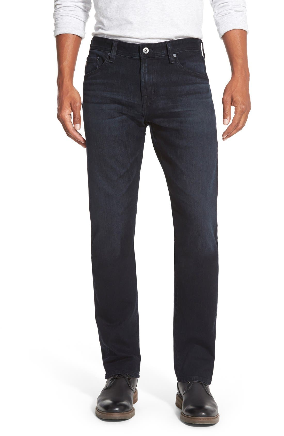Alternate Image 1 Selected - AG Graduate Slim Straight Leg Jeans (Bundled)