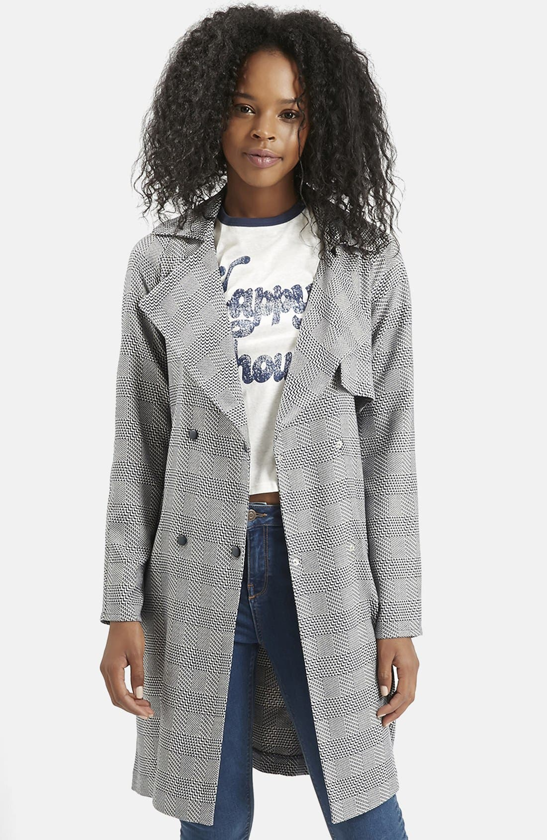 Alternate Image 1 Selected - Topshop Belted Trench