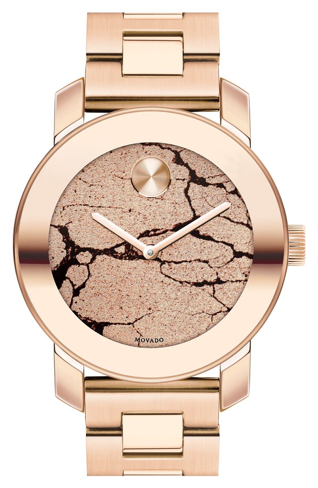 Alternate Image 1 Selected - Movado 'Bold' Crackle Dial Bracelet Watch, 36mm