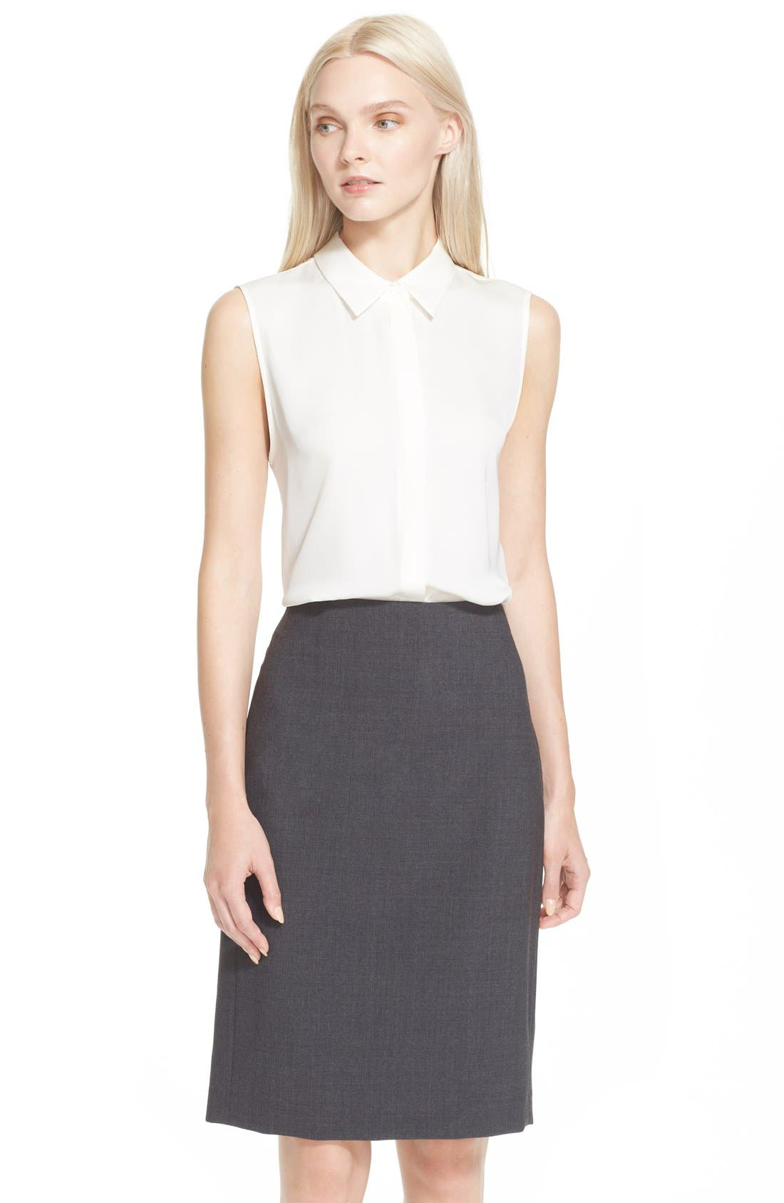 'Tanelis' Georgette Top,                         Main,                         color, Ivory