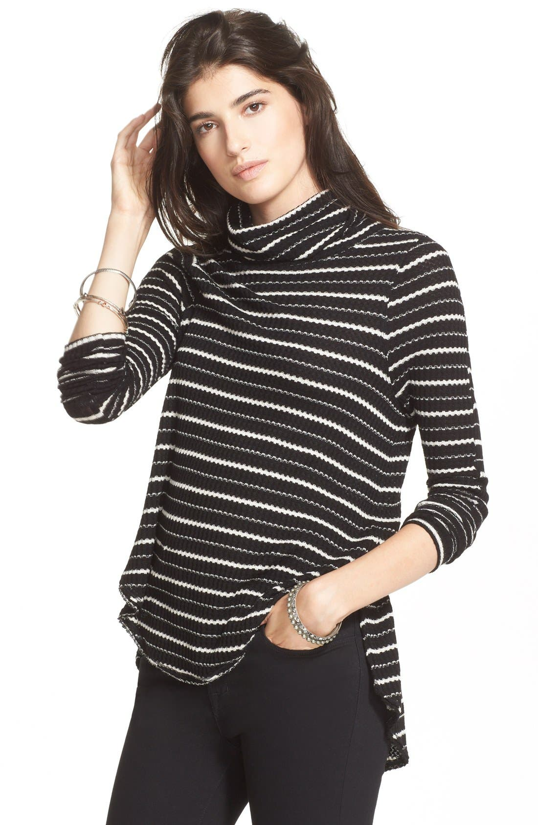 Main Image - Free People Stripe Drippy Thermal Tee