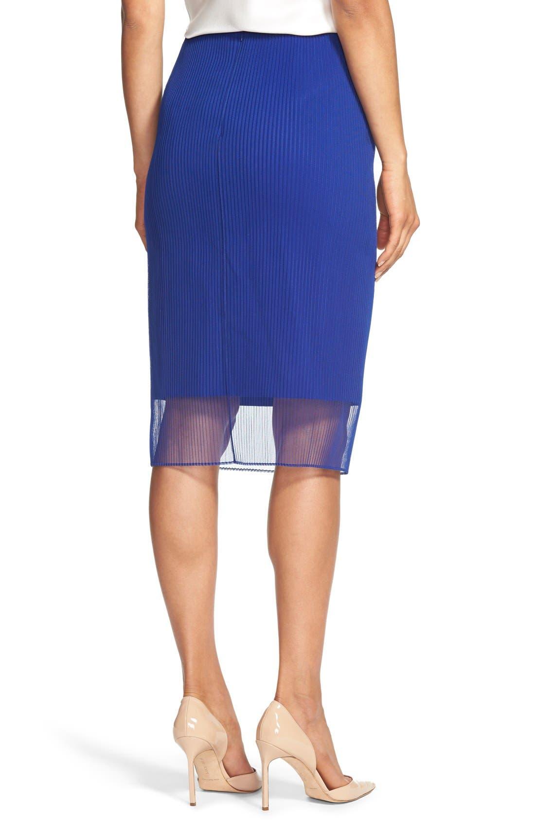 Alternate Image 2  - BOSS 'Veplyti' Plissé Overlay Pencil Skirt