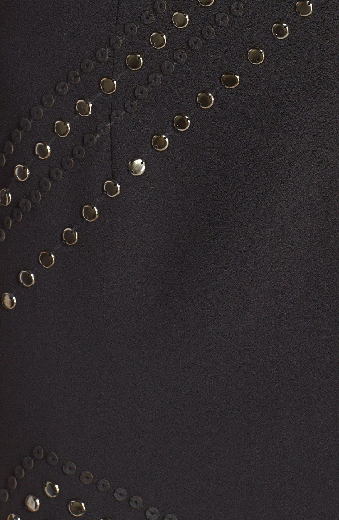 Alternate Image 4  - AdelynRae Embellished Chiffon Sheath Dress