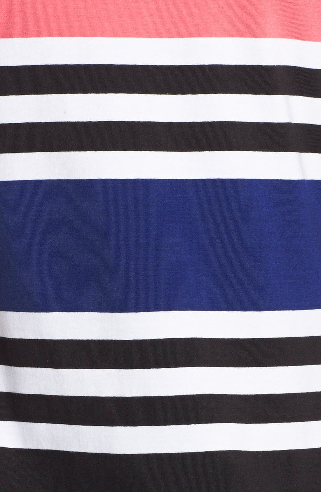 Alternate Image 4  - French Connection 'Jag' Stripe Stretch Cotton Knit Dress