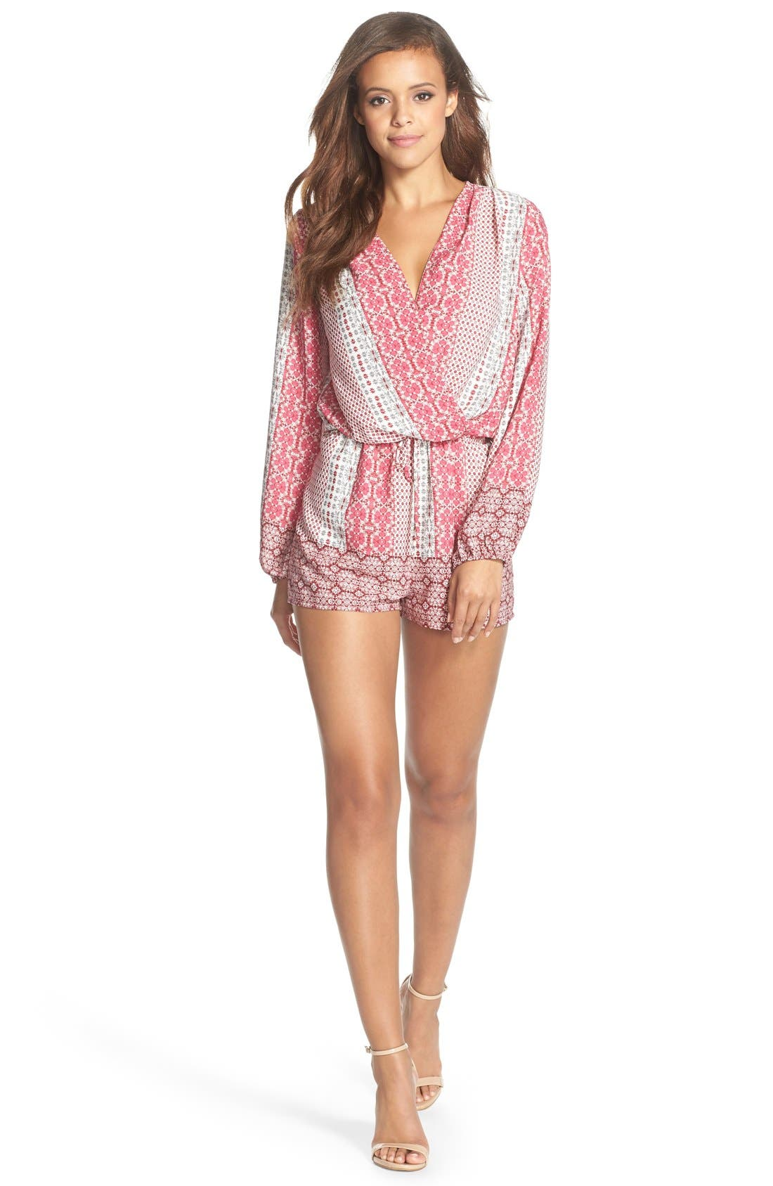 Alternate Image 3  - Fraiche by J Print Long Sleeve Romper