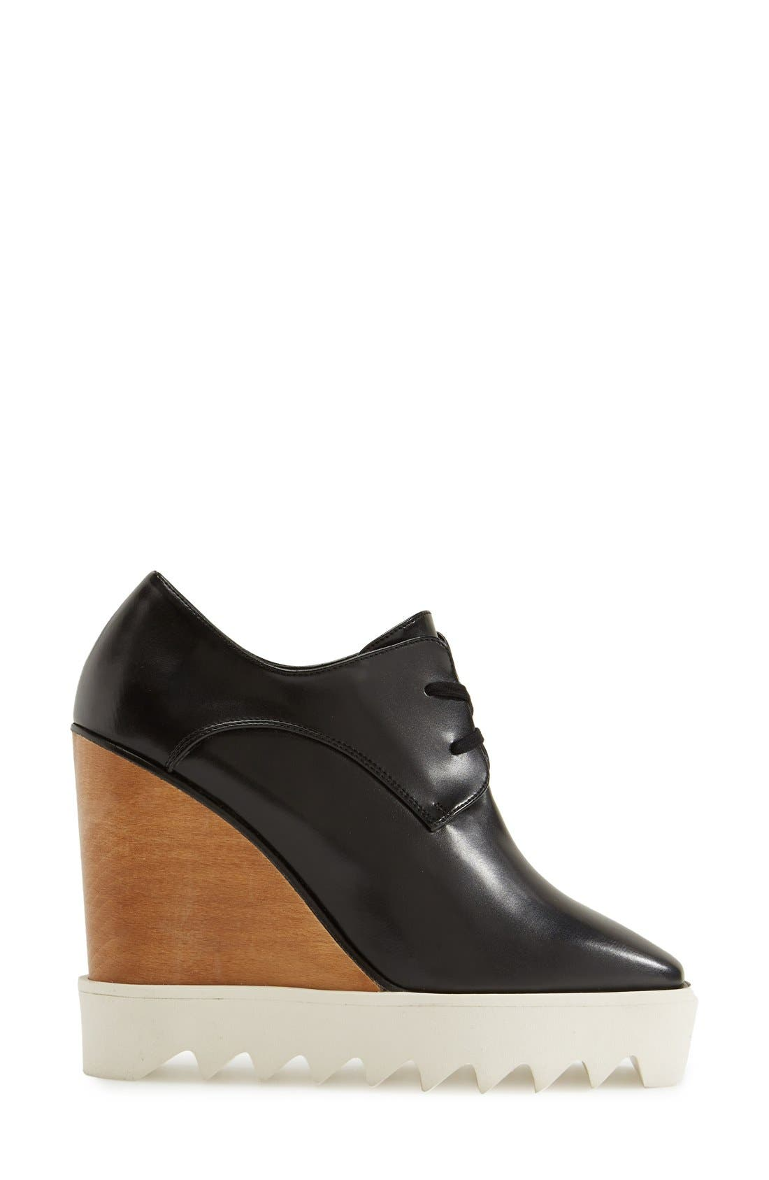 Alternate Image 4  - Stella McCartney Lace-Up Wedge Oxford (Women)