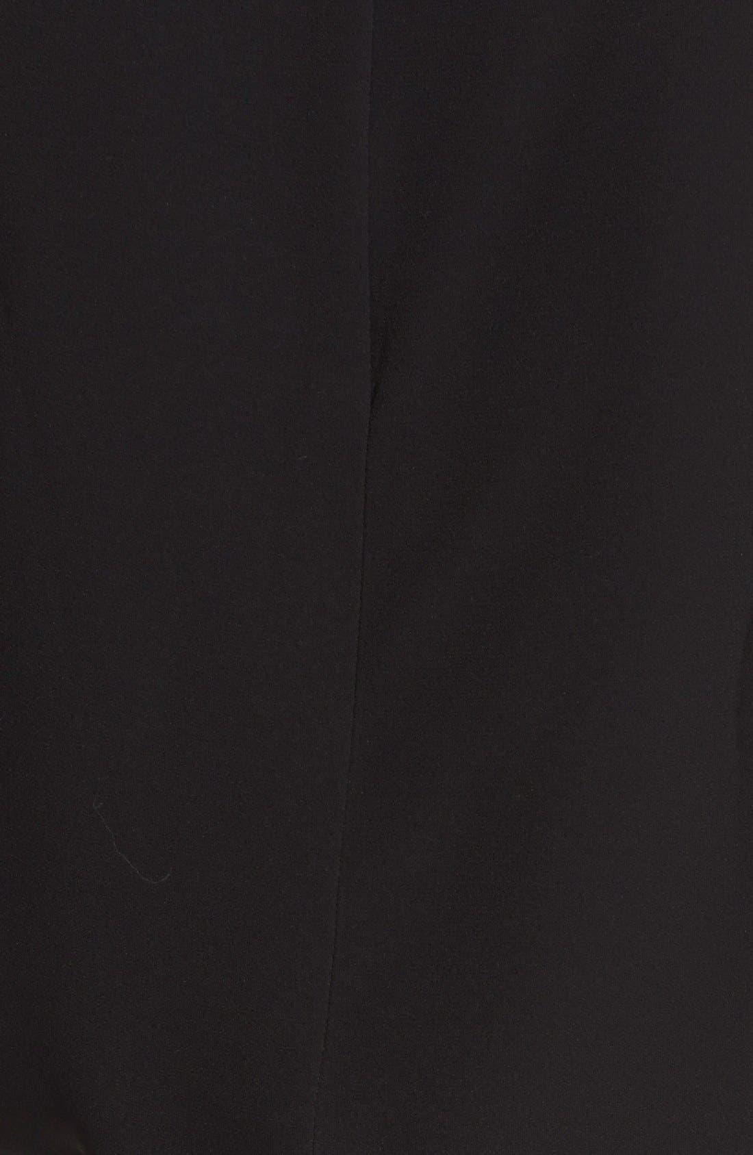 'Keaton' Sleeveless Crepe Top,                             Alternate thumbnail 3, color,                             Black