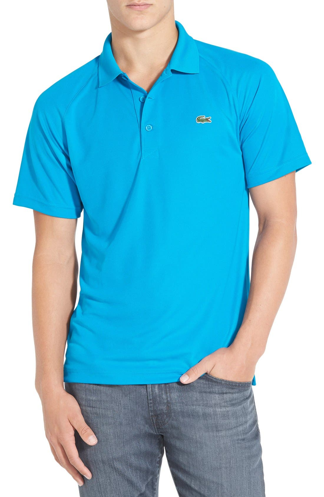 'Sport' Raglan Ultra Dry Performance Polo,                             Main thumbnail 1, color,                             Santorino Blue