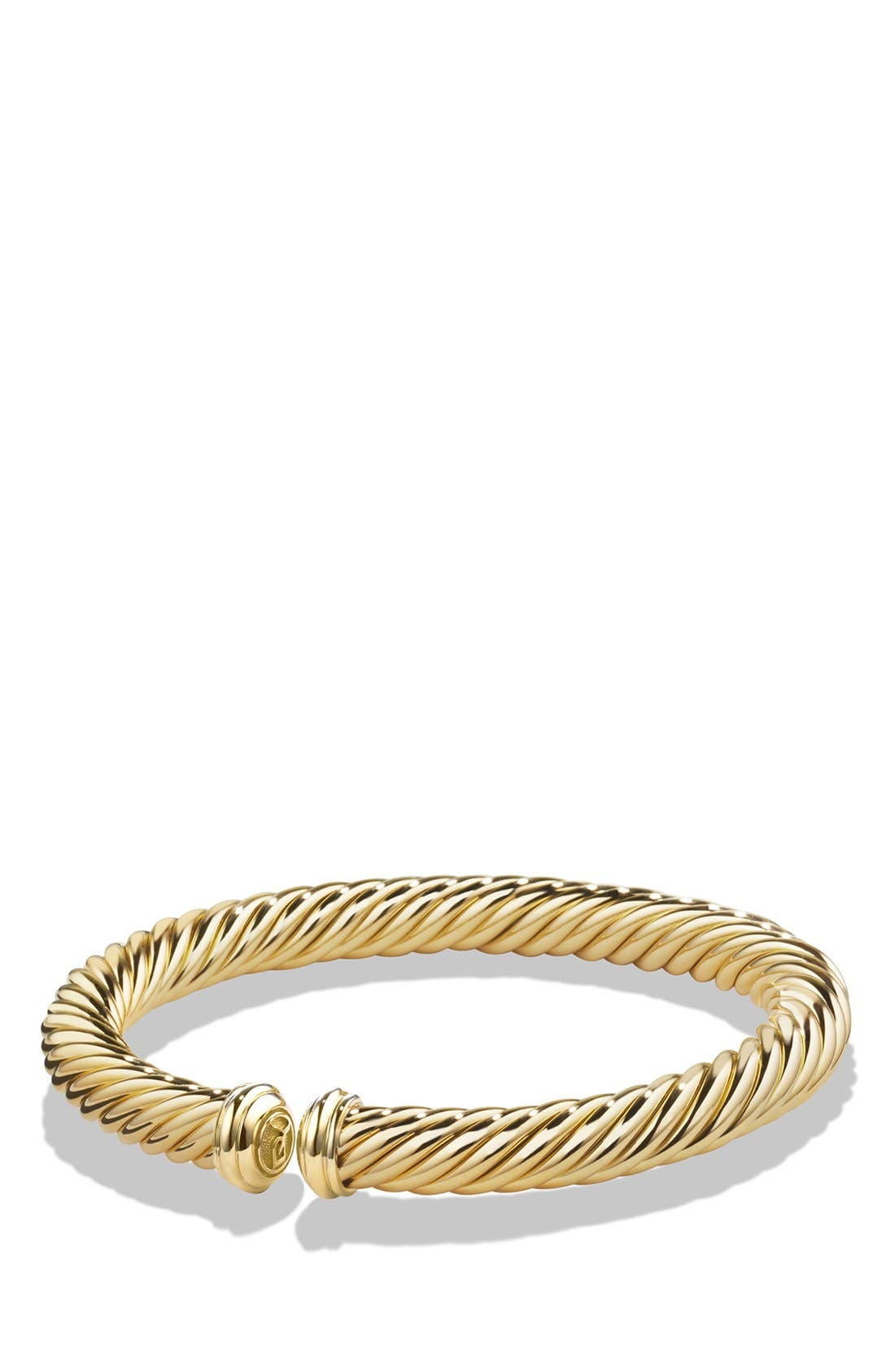 Cable Spira Bracelet in 18K Gold, 7mm,                             Main thumbnail 1, color,                             Yellow Gold