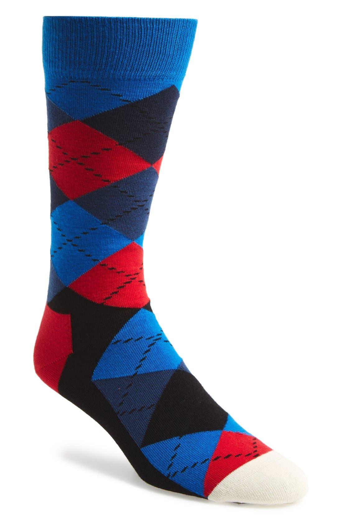Main Image - Happy Socks Argyle Socks