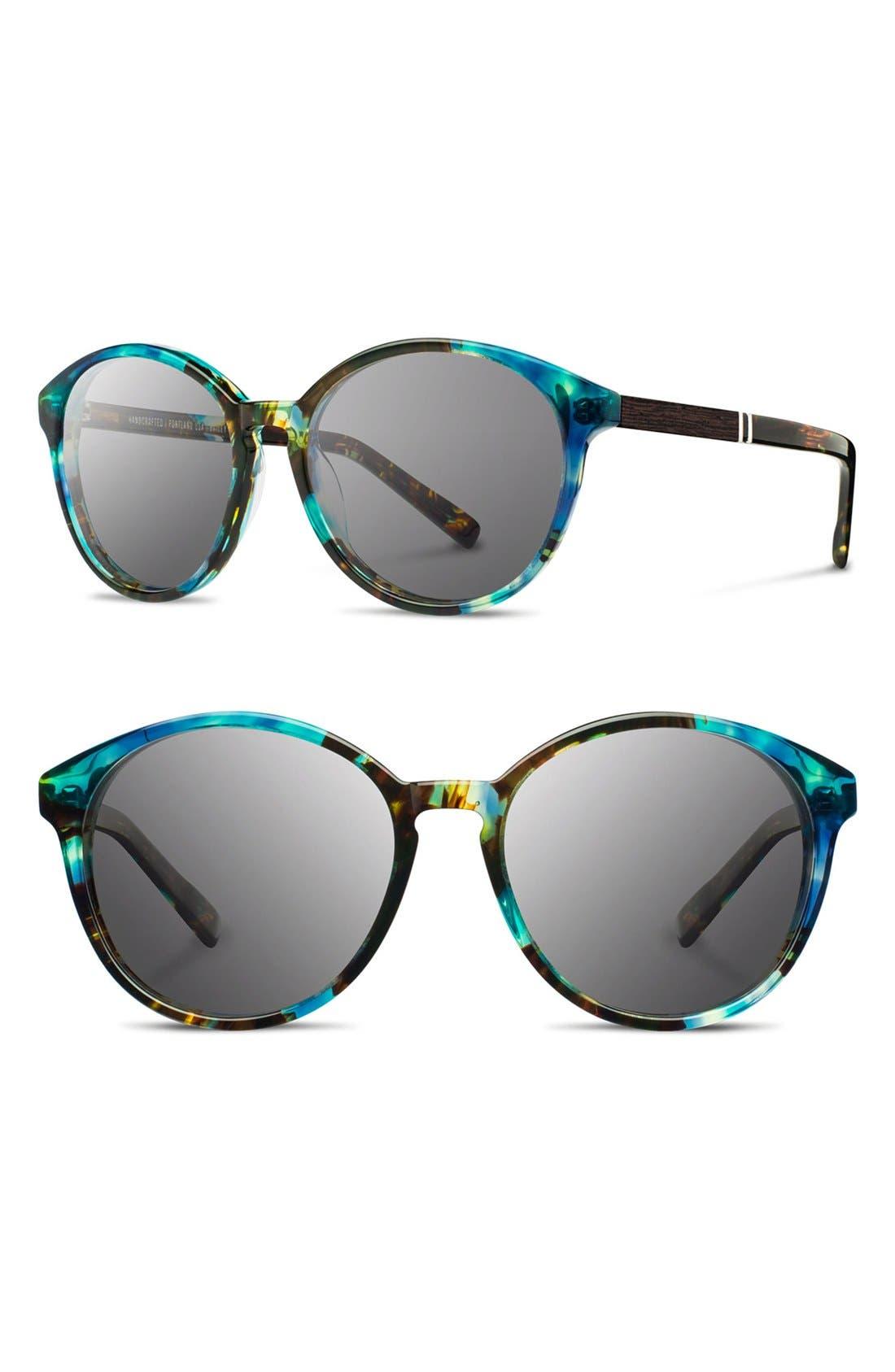 Shwood 'Bailey' 53mm Round Sunglasses