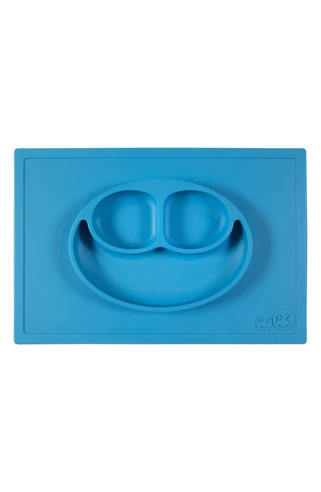 'Happy Mat' Silicone Feeding Mat,                             Alternate thumbnail 5, color,                             Blue
