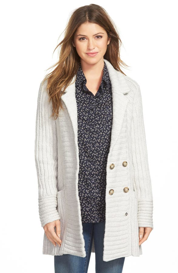 Lucky Brand Ribbed Sweater Coat | Nordstrom