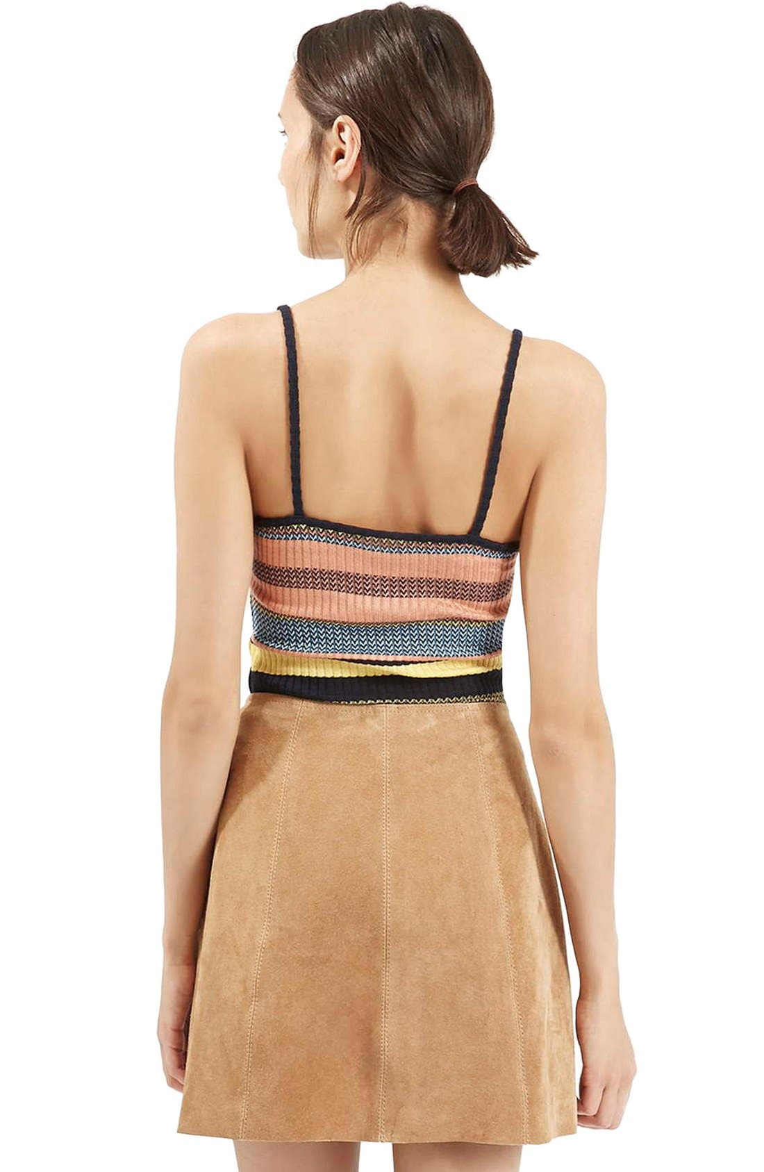 Alternate Image 3  - Topshop Chevron Stripe V-Neck Camisole