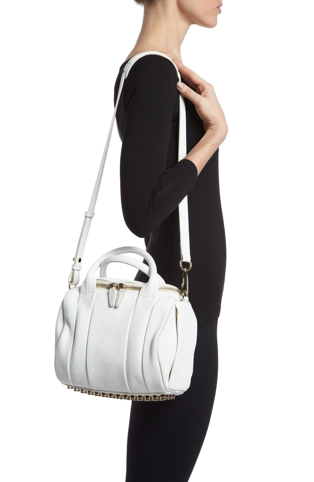 Alternate Image 2  - Alexander Wang 'Rockie - Pale Gold' Leather Crossbody Satchel