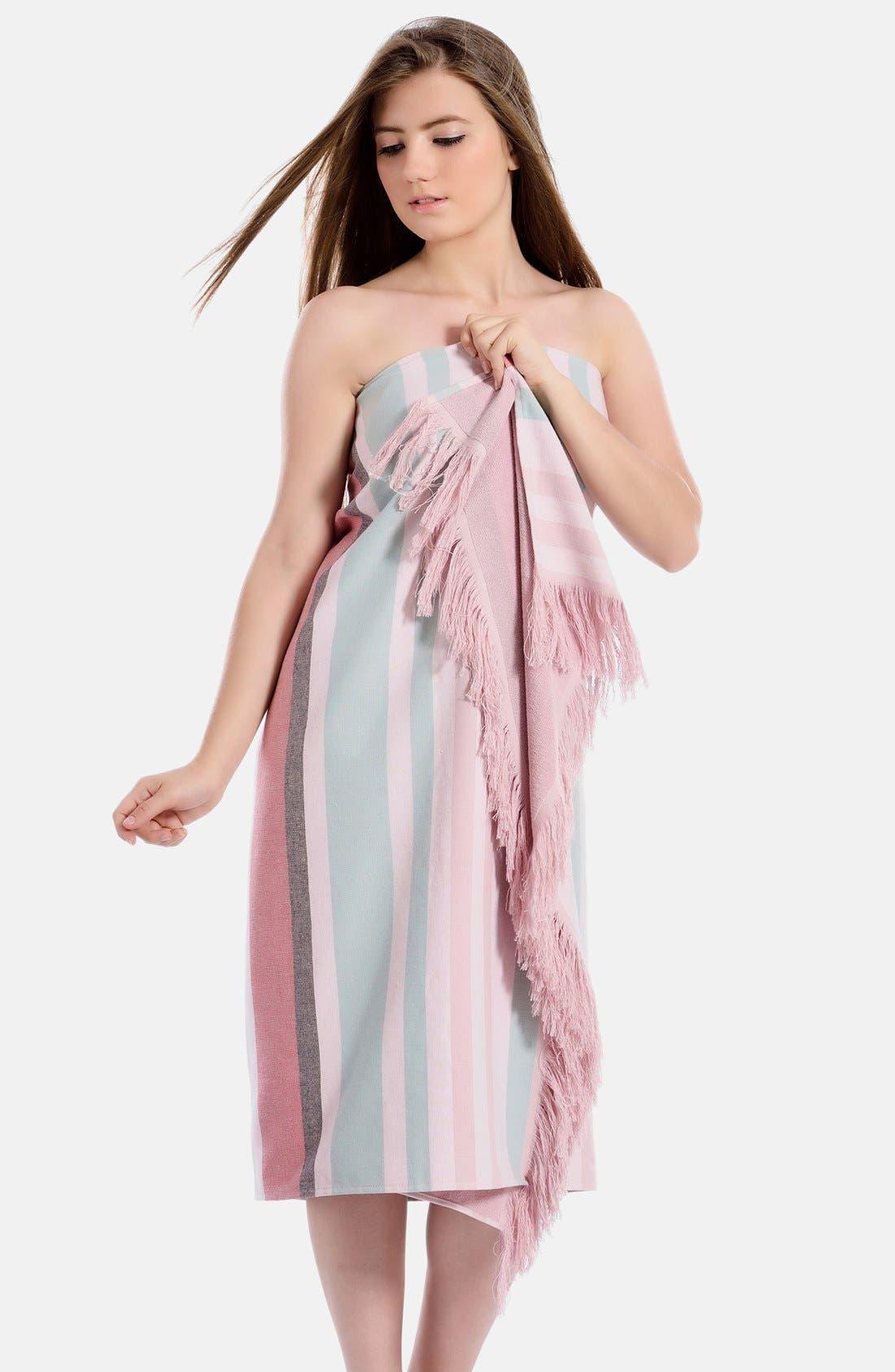 Alternate Image 3  - Linum Home Textiles 'Amalfi' Turkish Pestemal Towel