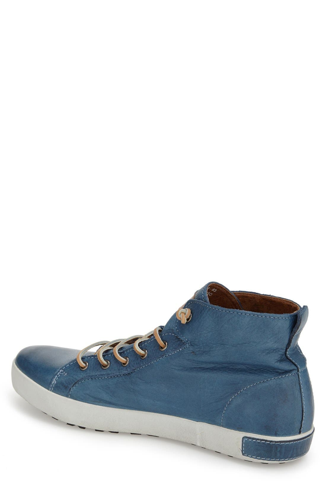 'JM03' Sneaker,                             Alternate thumbnail 3, color,                             Light Indigo Leather