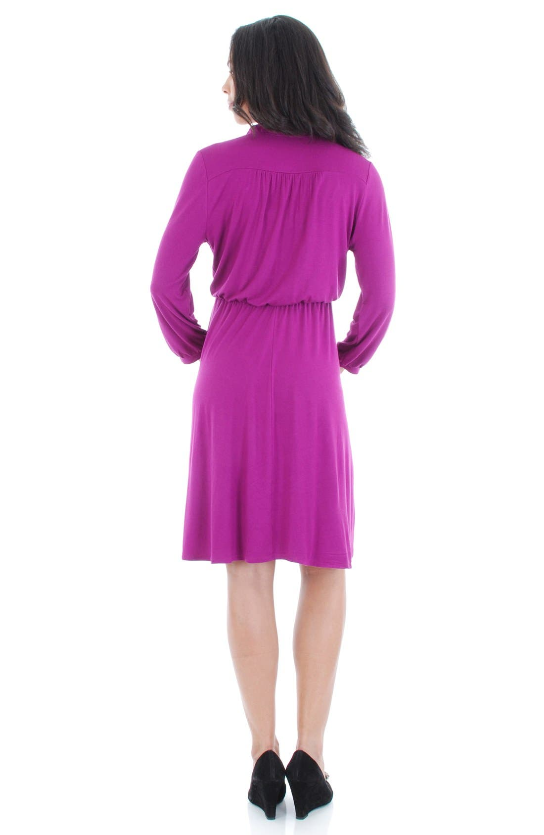 Everly Grey 'Sicily' Maternity/Nursing Dress,                             Alternate thumbnail 2, color,                             Orchid