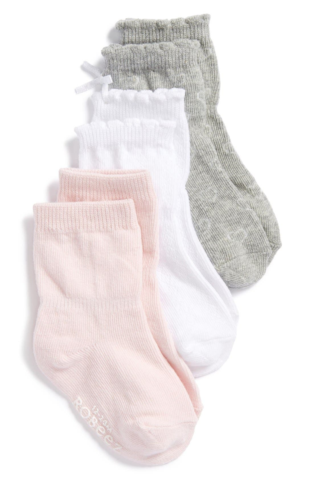 Robeez® Kickproof Ankle Socks (3-Pack) (Baby & Walker)