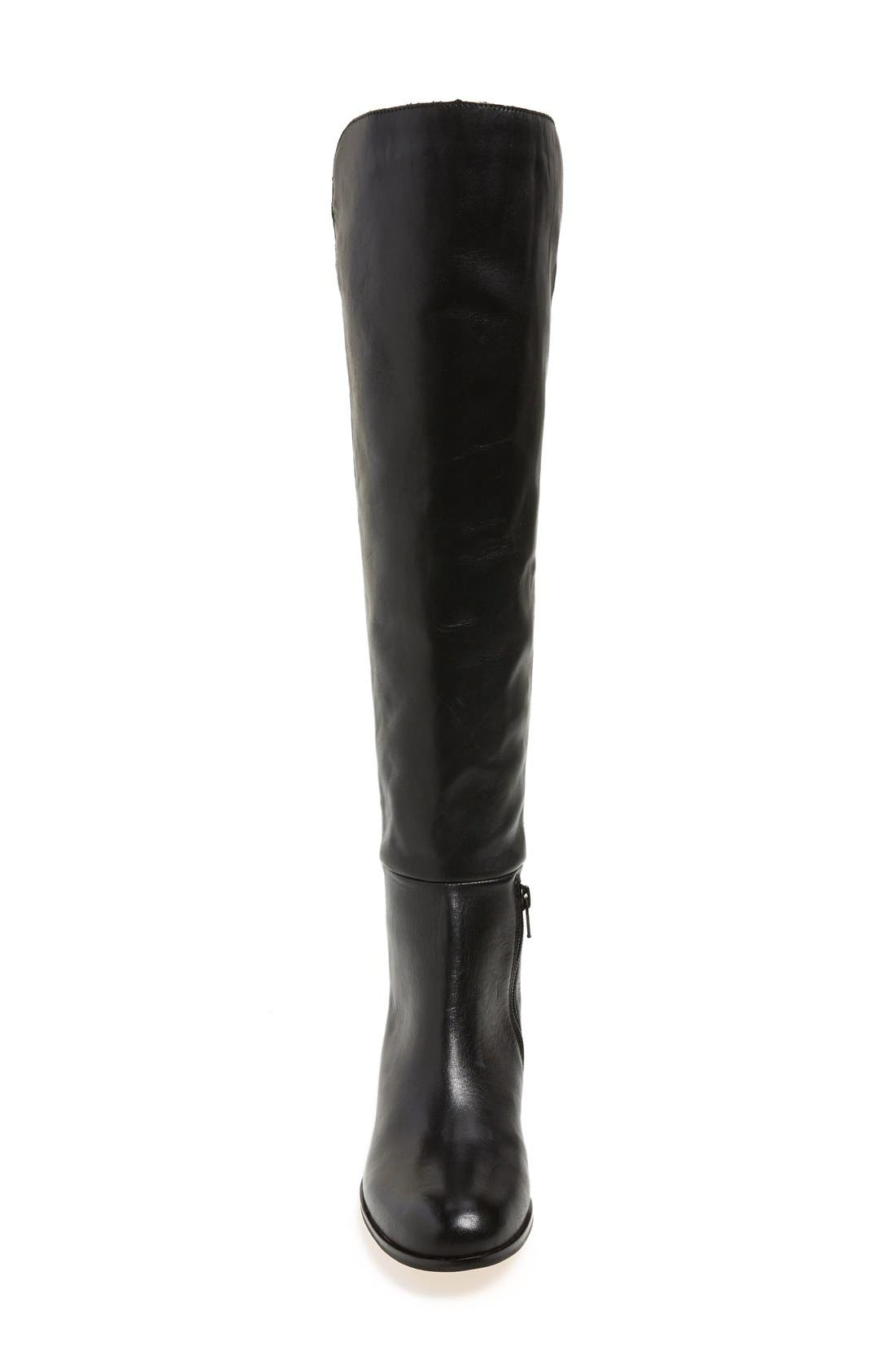 'Laura' Over the Knee Boot,                             Alternate thumbnail 3, color,                             Black Leather