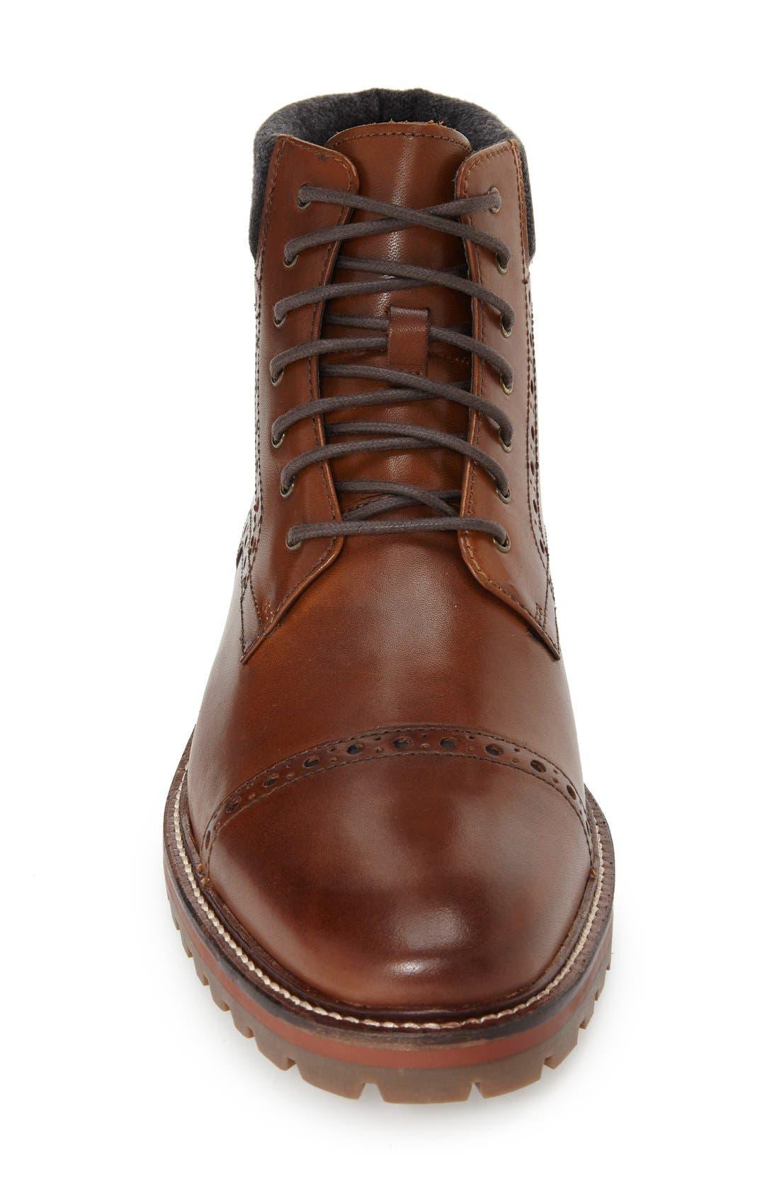 Alternate Image 3  - J&M 1850 'Karnes' Brogue Cap Toe Boot (Men)